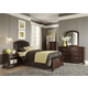 Liberty Furniture Avalon Youth 4 Piece Leather Storage Bedroom Set in Dark Truffle