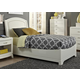 Liberty Furniture Avalon Youth Twin Leather Platform Bed in White Truffle 205-YBR-TLB