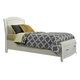 Liberty Furniture Avalon Youth Twin Leather Storage Bed in White Truffle 205-YBR-TLS