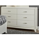 Liberty Furniture Avalon 6 Drawer Dresser in White Truffle 205-BR30