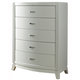 Liberty Furniture Avalon 5 Drawer Chest in White Truffle 205-BR40 CLEARANCE