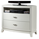Liberty Furniture Avalon Media Chest in White Truffle 205-BR49