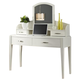 Liberty Furniture Avalon Student Desk Set in White Truffle 205-BR70