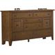 Liberty Furniture Hearthstone 8 Drawer Dresser in Rustic Oak 382-BR31