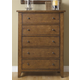 Liberty Furniture Hearthstone 5 Drawer Chest in Rustic Oak 382-BR41