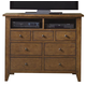 Liberty Furniture Hearthstone Media Chest in Rustic Oak 382-BR45