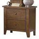 Liberty Furniture Hearthstone 2 Drawer Nightstand in Rustic Oak 382-BR61