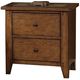 Liberty Furniture Hearthstone Slate Nightstand in Rustic Oak 382-BR62