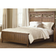 Liberty Furniture Hearthstone Queen Panel Bed in Rustic Oak 382-QPB