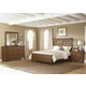 Liberty Furniture Hearthstone 4 Piece Panel Bedroom Set in Rustic Oak