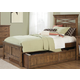 Liberty Furniture Hearthstone Youth Twin Panel Bed in Rustic Oak 382-YTPB