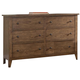 Liberty Furniture Hearthstone Youth 6 Drawer Dresser in Rustic Oak 382-BR30