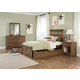 Liberty Furniture Hearthstone Youth 4 Piece Panel Bedroom Set in Rustic Oak