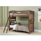 Liberty Furniture Hearthstone Youth Twin Over Full Bunk Bed in Rustic Oak 382-YFBUNK