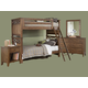 Liberty Furniture Hearthstone Youth 4 Piece Bunk Bedroom Set in Rustic Oak