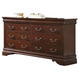 Liberty Furniture Carriage Court 8 Drawer Dresser in Mahogany 709-BR31
