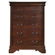 Liberty Furniture Carriage Court 6 Drawer Chest in Mahogany 709-BR41