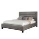 Standard Furniture Reaction Queen Upholstered Platform Bed in Grey 67850-99001