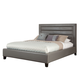 Standard Furniture Reaction King Upholstered Platform Bed in Grey 67850-99003