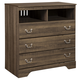 Allymore Media Chest in Brownish Gray B216-39