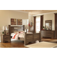 Allymore Poster Bedroom Set in Brownish Gray