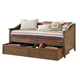 Liberty Furniture Hearthstone Youth Twin Trundle Unit in Rustic Oak 382-BR11T