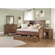Liberty Furniture Hearthstone Youth 4 Piece Daybed Bedroom Set in Rustic Oak
