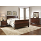 Liberty Furniture Carriage Court 4 Piece Sleigh Bedroom Set in Mahogany