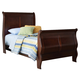 Liberty Furniture Carriage Court Youth Twin Sleigh Bed in Mahogany 709-BR11T