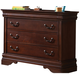 Liberty Furniture Carriage Court Youth Single Dresser in Mahogany 709-BR30
