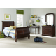 Liberty Furniture Carriage Court Youth 4 Piece Sleigh Bedroom Set in Mahogany