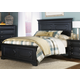 Liberty Furniture Carrington II Queen Panel Bed in Black 917-BRQ