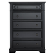 Liberty Furniture Carrington II 5 Drawer Chest in Black 917-BR41