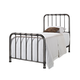 Standard Furniture Tristen Twin Metal Bed in Antique Pewter 87500-87501
