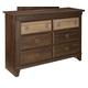 Standard Furniture Weatherly 6-Drawer Dresser in 2-Tone 68150-68159