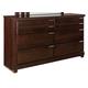 Standard Furniture Strata 6-Drawer Dresser in Warm Brown 68450-68459