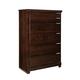 Standard Furniture Strata 5-Drawer Chest in Warm Brown 68450-68455