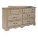 Standard Furniture Torina 6-Drawer Dresser in Light Cream 68850-68859