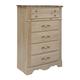 Standard Furniture Torina 5-Drawer Chest in Light Cream 68850-68855