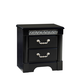 Standard Furniture Venetian Black 2-Drawer Nightstand in Black 69250-69257