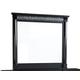 Standard Furniture Venetian Black Mirror in Black 69268