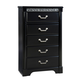 Standard Furniture Venetian Black 5-Drawer Chest in Black 69250-69255