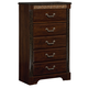 Standard Furniture Venetian 5-Drawer Chest in Cherry 69300-69305