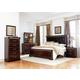 Standard Furniture Venetian Upholstered Panel Bedroom Set in Cherry