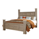 Standard Furniture Stonehill Queen Poster Bed in Weathered Oak 69400-69402Q