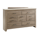 Standard Furniture Stonehill 7-Drawer Dresser in Weathered Oak 69400-69409