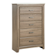 Standard Furniture Stonehill 5-Drawer Chest in Weathered Oak 69400-69405