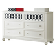 Liberty Furniture Kaleidoscope 6 Drawer Dresser in Linen White 527-BR30