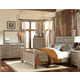 Standard Furniture Stonehill Poster Bedroom Set in Weathered Oak