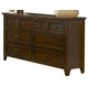 Liberty Furniture Laurel Creek 6 Drawer Dresser in Cinnamon 461-BR31